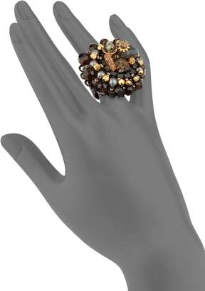 Miriam Haskell Faux Pearl Cocktail Ring
