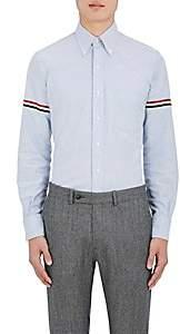 Thom Browne Men's Appliquéd Cotton Button-Down Shirt - Lt. Blue