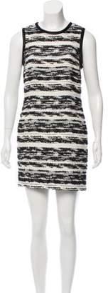 Proenza Schouler Striped Mini Dress Black Striped Mini Dress