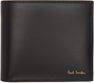 Paul Smith Black Color Band Bifold Wallet $225 thestylecure.com