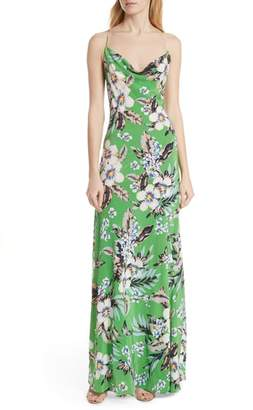 Diane von Furstenberg Cowl Neck Silk Gown