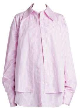 Rokh Layer Pinstripe Button-Down Shirt