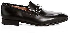 Salvatore Ferragamo Men's Benford Gancini Leather Loafers