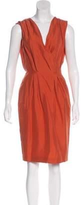Bottega Veneta Silk Sheath Dress Orange Silk Sheath Dress