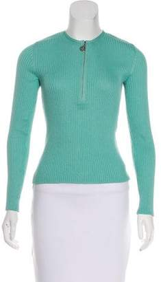 Tory Burch Cashmere Rib Knit Top