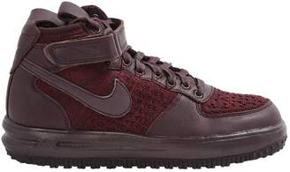 Nike Force 1 Burgundy Leather Trainers