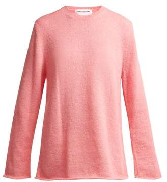 Comme des Garcons Textured Knit Sweater - Womens - Pink
