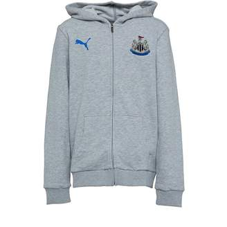 Puma Junior Boys NUFC Newcastle United Fan Hoodie Light Grey Heather