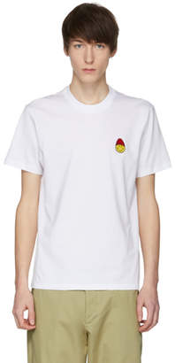 Ami Alexandre Mattiussi White Limited Edition Smiley Edition Patch T-Shirt