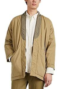 Visvim Men's Washed Cotton-Blend Canvas Kimono Jacket - Beige, Tan