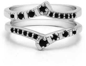 TwoBirch Bar Set Wedding Ring Guard in Sterling Silver (0.23ctw)