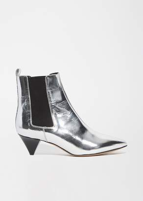 Isabel Marant Dawell Pointed Toe Ankle Boots Silver