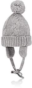 Barneys New York Kids' Pom-Pom Cashmere Hat-Gray