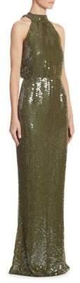 Rachel Gilbert Inga Halter Sequin Gown