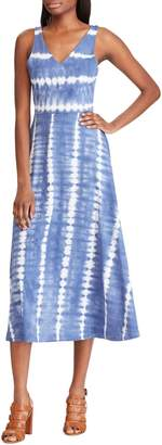 Chaps Tie-Dyed Cotton Fit--Flare Dress