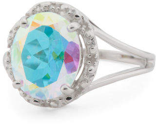 Made In India Sterling Silver Mercury Mystic Topaz Ring
