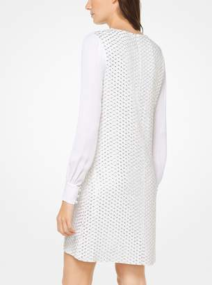 MICHAEL Michael Kors Sequined Viscose-Crepe Dress