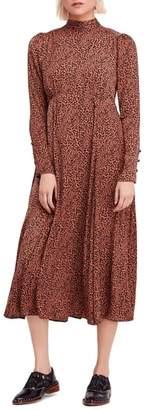 Free People Loveless Print Midi Dress