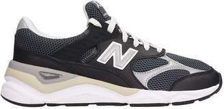 New Balance Leather And Canvas Black X90 Sneakers