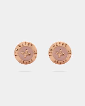 Ted Baker EISLEY Enamel button stud earrings