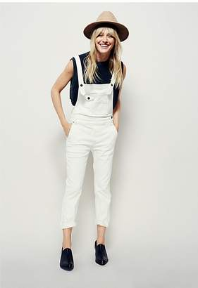 Free People Washed Denim Overall