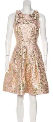 Oscar de la Renta Brocade Mini Dress