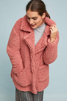Anthropologie Rosy Sherpa Jacket