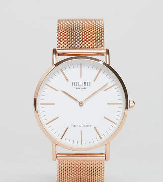 Reclaimed Vintage Inspired Classic Mesh Strap Watch In Rose Gold Exclusive to ASOS