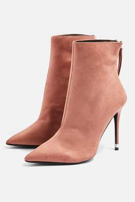 Topshop Womens Ella Pointed Ankle Boots - Nude