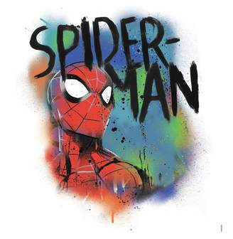 Spiderman RoomMates Marvel Classic Graffiti Burst Peel and Stick Giant Wall Decal Single Sheet