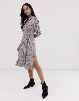 AllSaints Chiara sketch midi dress