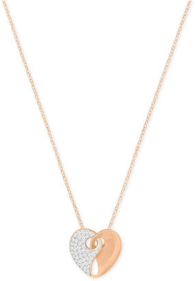 Swarovski Two-Tone Pave Heart Pendant Necklace