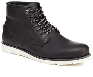 Levi's LEVIS Black Leather 'Jax' Lace Up Boots