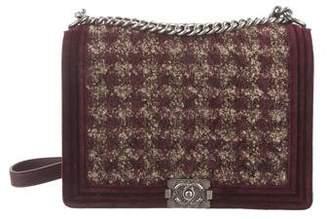 Chanel Large Paris-Edinburgh Tweed Boy Flap Bag
