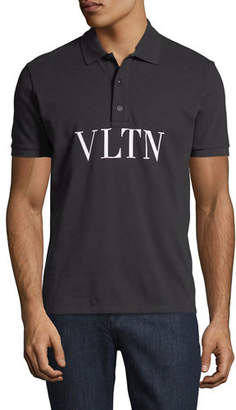 Valentino VLTN Logo-Stamped Polo Shirt