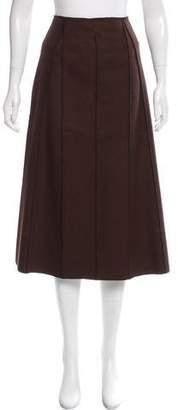 Alberta Ferretti Wool Midi Skirt