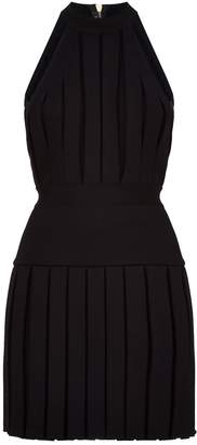 Balmain Ribbed Pleated Dress