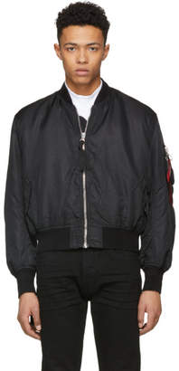 Alpha Industries 424 Black Edition MA-1 Printed Bomber Jacket
