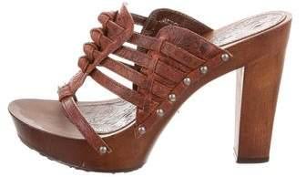 Christian Dior Embossed Platform Sandals