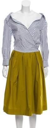 Sara Roka Portrait Collar Dress