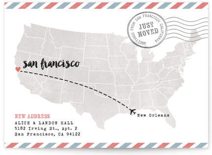 US Postcard Moving Announcement Postcards