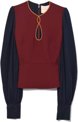 Roksanda Nadi Top in Merlot