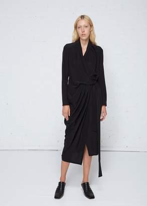 Rick Owens Long Sleeve Wrap Dress
