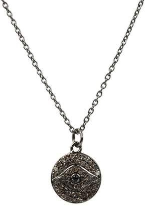 Latelita London - Diamond & Sapphire Evil Eye Necklace Oxidised