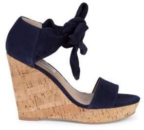 b75da135869a Saks Fifth Avenue Mckenna Cork   Suede Platform Wedge Sandals