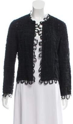 Chanel Lace Open Front Jacket