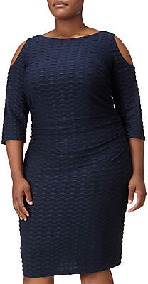 Adrianna Papell Cold Shoulder Fitted Dress, Blue Moon