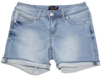 7 For All Mankind Seven7 Womens Cuffed 5 Denim Short with Embroidered E Loop Pockets (4, )