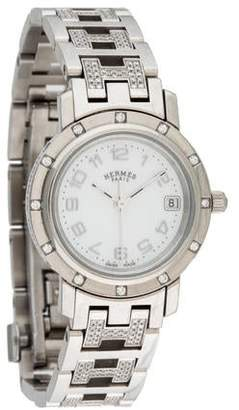 Hermes Diamond Clipper Watch