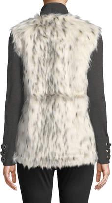 Love Token Faux-Fur V-Neck Vest